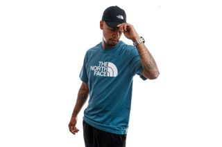 Foto van The North Face T-Shirt M S/S Easy Tee Mallard Blue NF0A2TX3Q311
