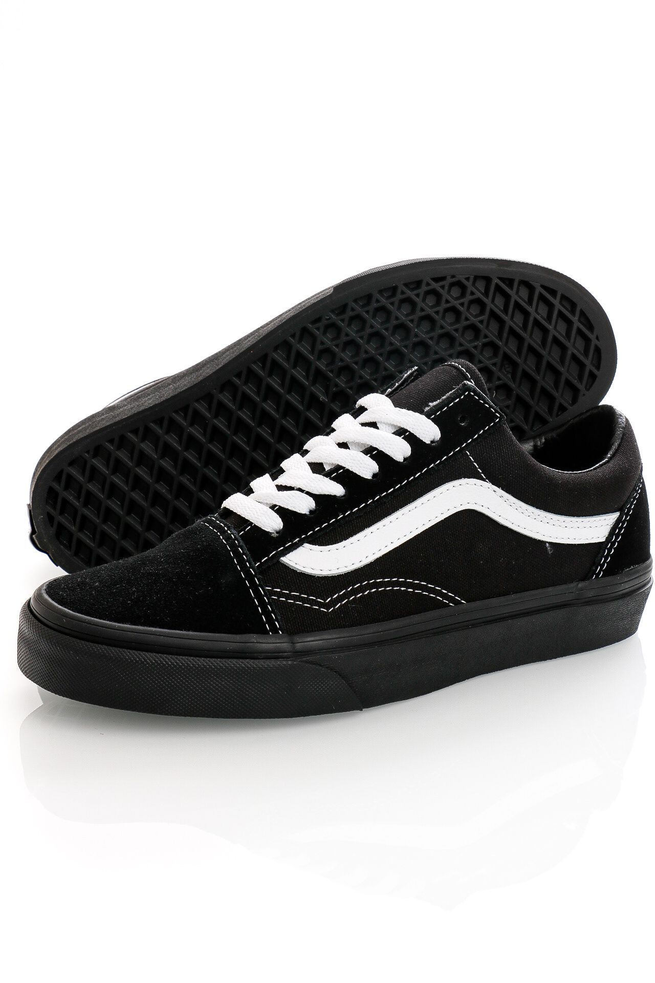 Afbeelding van Vans Sneakers UA Old Skool (SUEDE/CANVAS) Black Black/True Wh VN0A3WKT5WU1