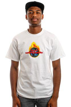 Afbeelding van HUF T-Shirt HUF GLOBAL WARNING S/S White TS01520