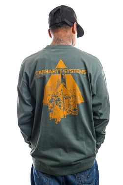 Afbeelding van Carhartt Longsleeve L/S Pyramid Eucalyptus / Helios I029622