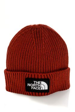 Afbeelding van The North Face Muts TNF LOGO BOX CUFFED SHT BRICK HOUSE RED NF0A3FJXBDQ1