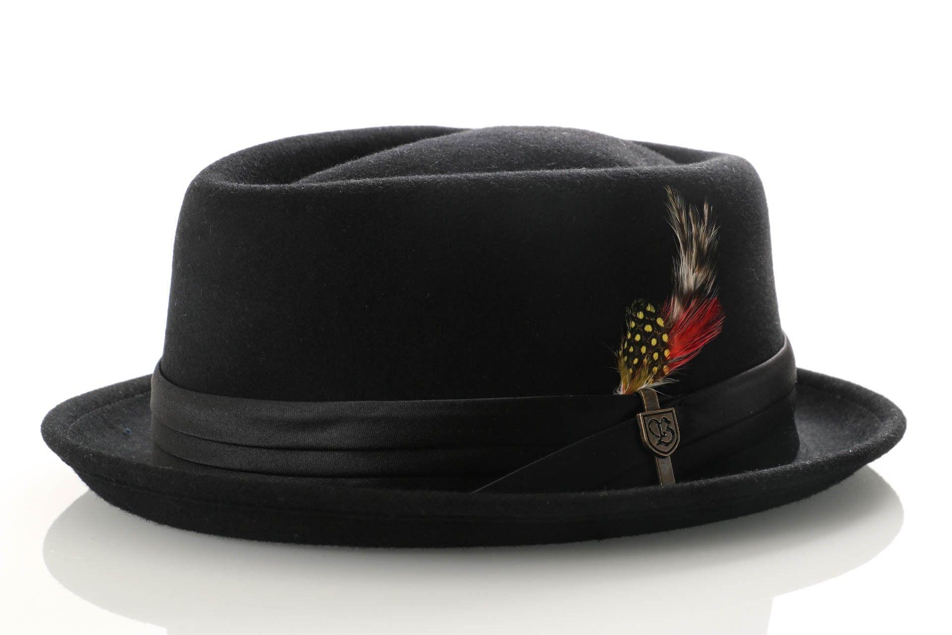 Afbeelding van Brixton 00036-0135 Hat Stout Pork Pie Black/Black