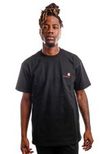 Carhartt T-shirt S/S American Script Black I029956