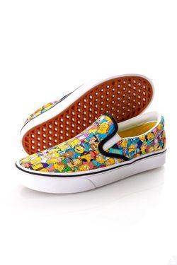 Afbeelding van Vans x The Simpsons Sneakers UA ComfyCush Slip-Sim Rio Red/KC Blue VN0A3WMD1TJ