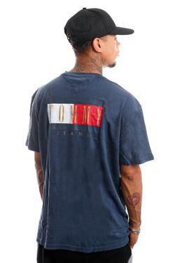 Afbeelding van Tommy Jeans T-Shirt TJM VINTAGE FLAG PRINT Twilight Navy DM0DM11610