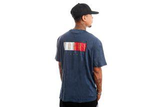 Foto van Tommy Jeans T-Shirt TJM VINTAGE FLAG PRINT Twilight Navy DM0DM11610