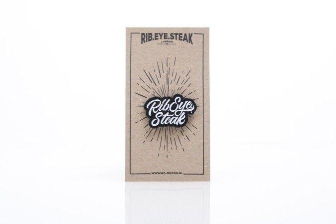 Afbeelding van Rib.Eye.Steak 17-Res-013 Pins Res Scripted Zwart