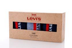 Afbeelding van Levi's Bodywear Sokken Levis 168Sf Regular Cut Giftbox Logo 3P navy/mid denim 973027310
