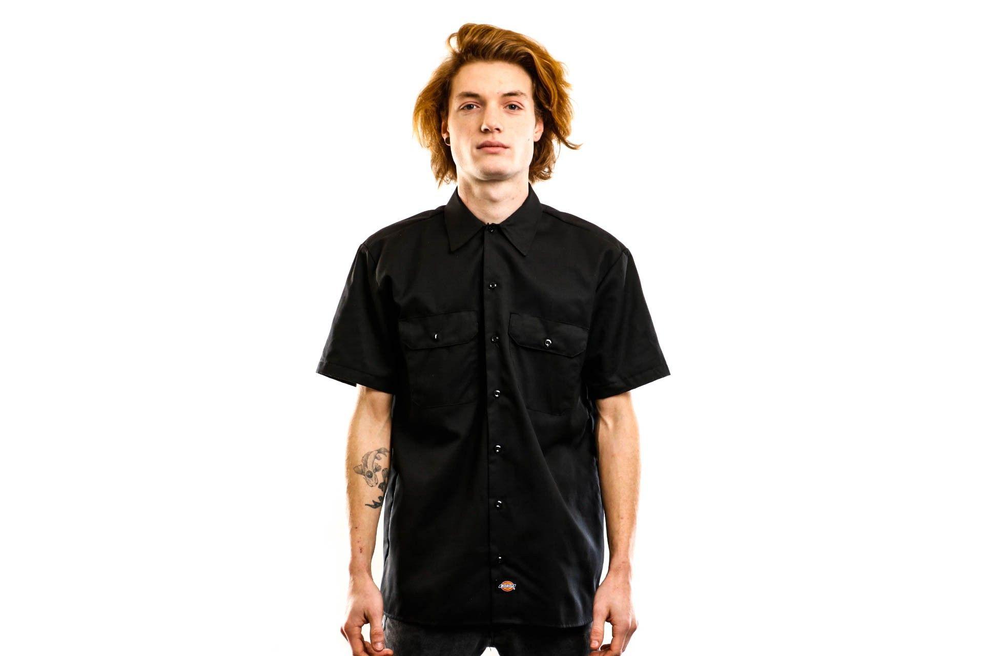 Afbeelding van Dickies Overhemd Short Sleeve Work Shirt Black DK001574