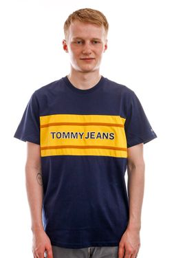Afbeelding van Tommy Jeans T-shirt TJM BOLD TJ FLAG Twilight Navy DM0DM09718