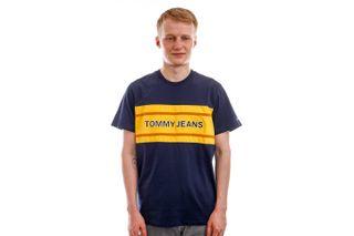 Foto van Tommy Jeans T-shirt TJM BOLD TJ FLAG Twilight Navy DM0DM09718