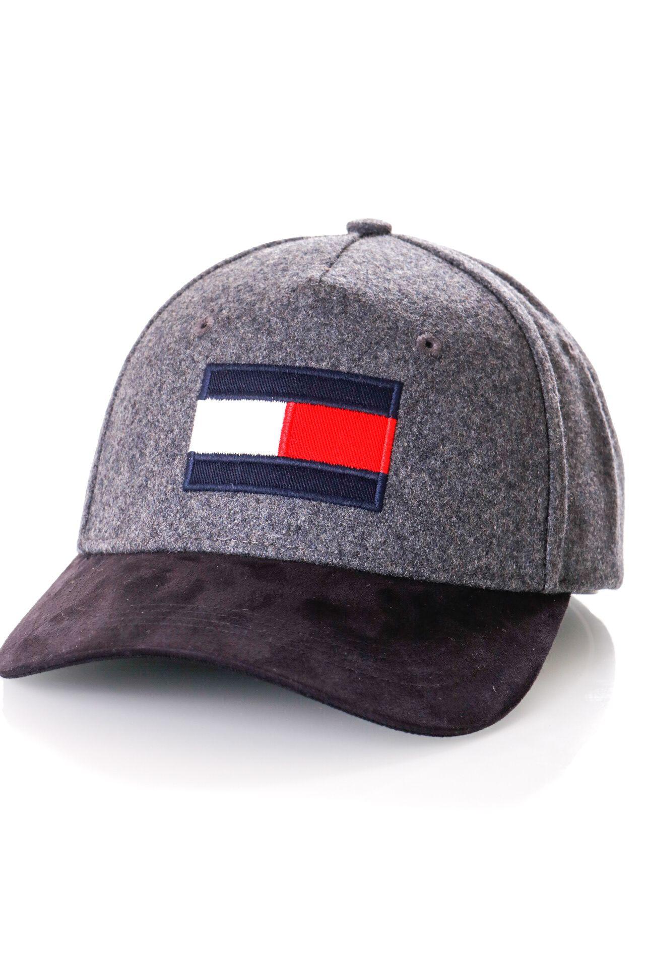 Afbeelding van Tommy Hilfiger Dad cap BIG FLAG CAP MIX, 0IT Dark Grey Melange AM0AM05307