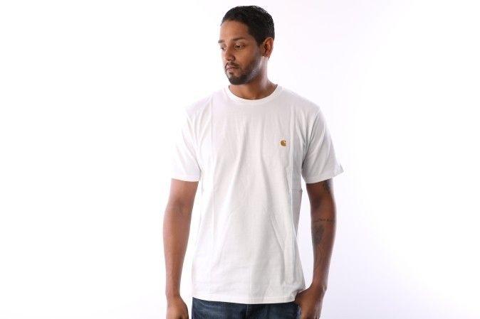 Afbeelding van Carhartt Wip I026391 290 T-Shirt Chase White/Gold