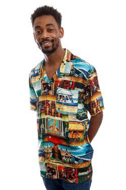 Afbeelding van HUF Blouse Stages S/S Resort Shirt Multi BU00123