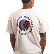 Brixton T-shirt RIVAL STAMP S/S STT Ivory Garment Dye 16551