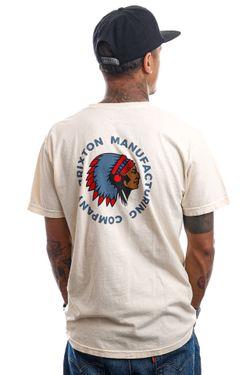 Afbeelding van Brixton T-shirt RIVAL STAMP S/S STT Ivory Garment Dye 16551