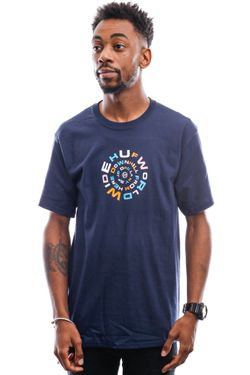 Afbeelding van HUF T-Shirt Downward Spiral S/S Tee French Navy Ts01170-Frnvy