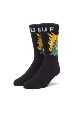 Afbeelding van HUF sokken Hot Fire Socks Black SK00286