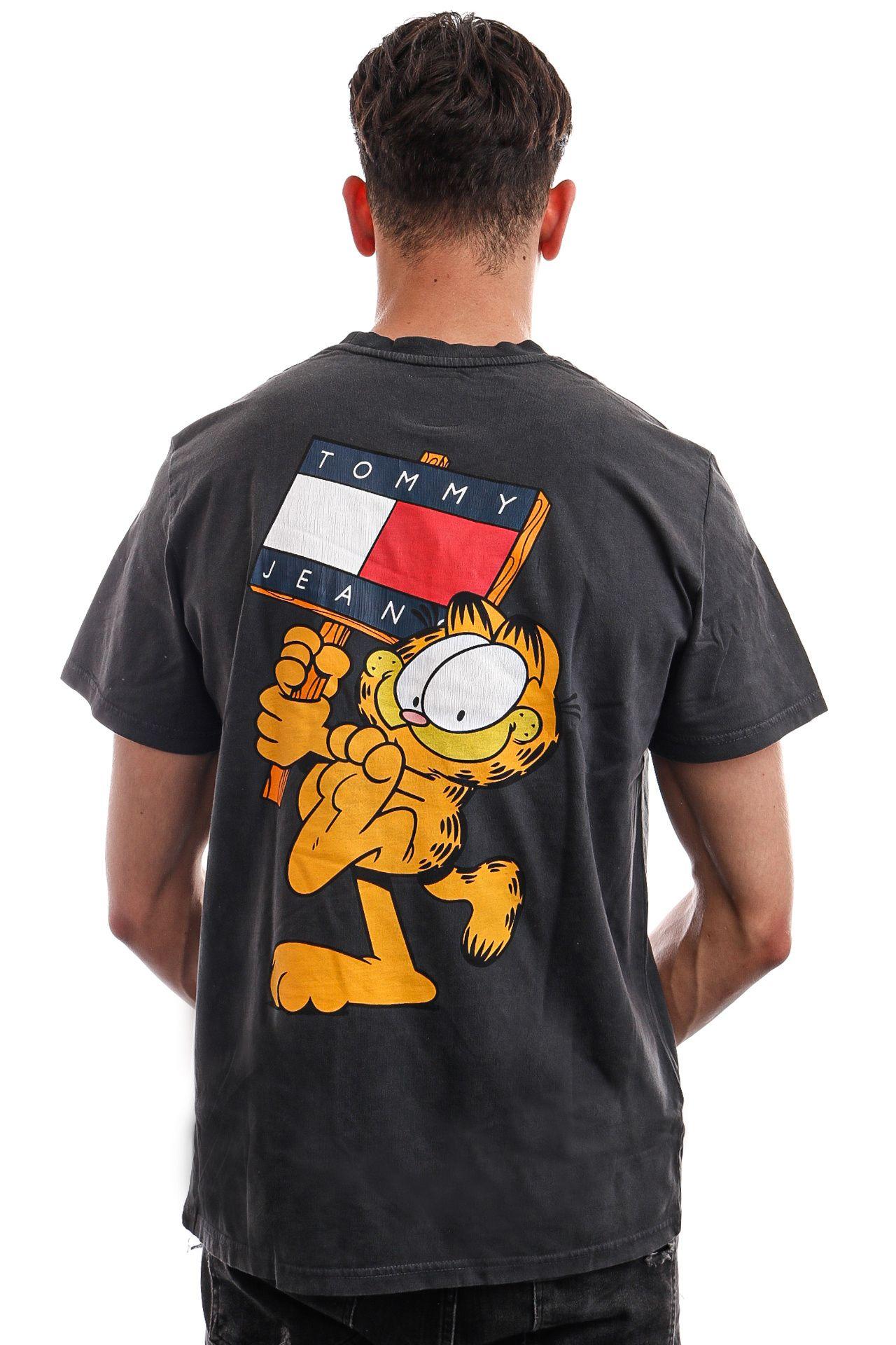 Afbeelding van Tommy Jeans T-shirt TJU X GARFIELD Blackout DM0DM12193