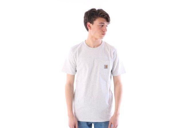 Afbeelding van Carhartt Wip I022091-48200 T-Shirt Pocket Ash Heather