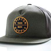 Brixton Snapback Oath Iii Mesh Cap Cypress 958