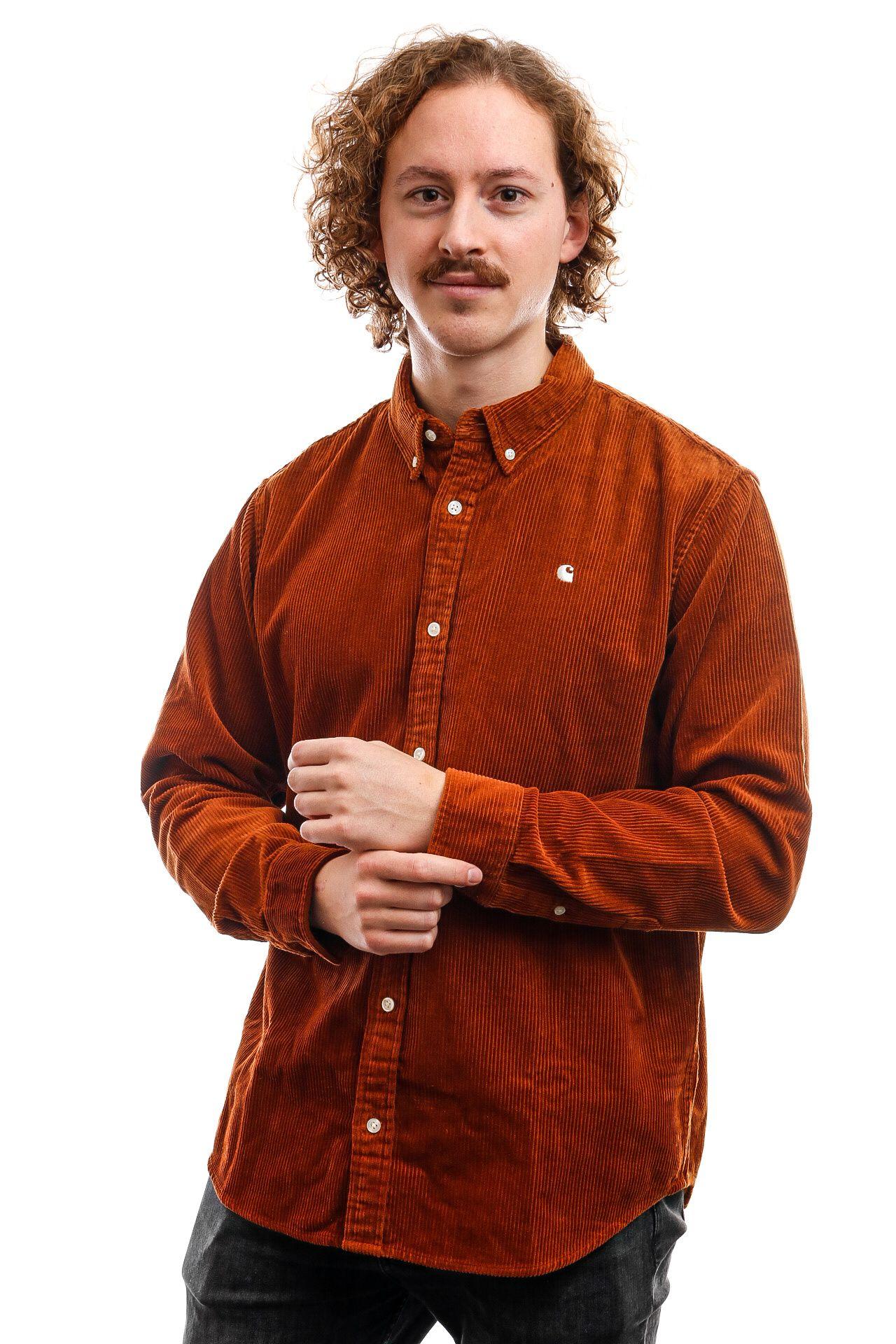 Afbeelding van Carhartt Long Sleeve L/S Madison Cord Shirt Brandy / Wax I025247