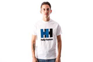 Foto van Helly Hansen 53165-001 T-Shirt Hh Logo Wit