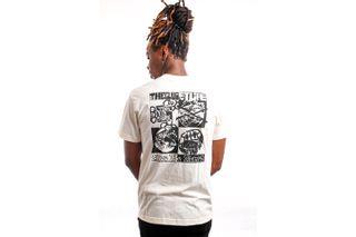 Foto van Quiet Life T-shirt QUIET LIFE TIME IS NOW S/S T-SHIRT NATURAL L Natural QL-21SPD2-2134