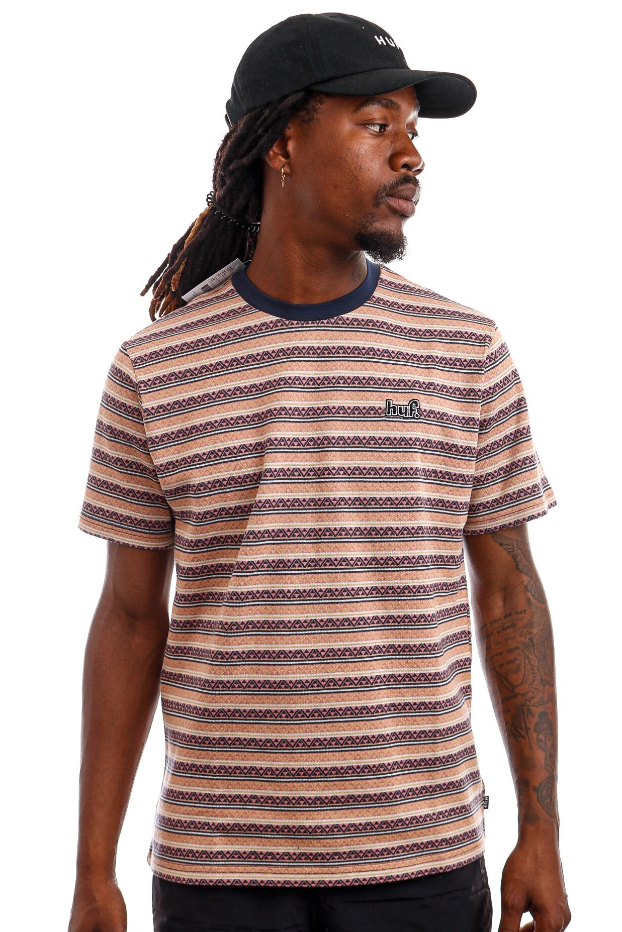 Afbeelding van HUF T-Shirt HUF ALLEN S/S KNIT Dusty Rose KN00289