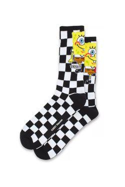 Afbeelding van Vans Sokken BY VANS X SPONGEBOB CREW YTH Checkerboard VN0A5FOLQ7Y1