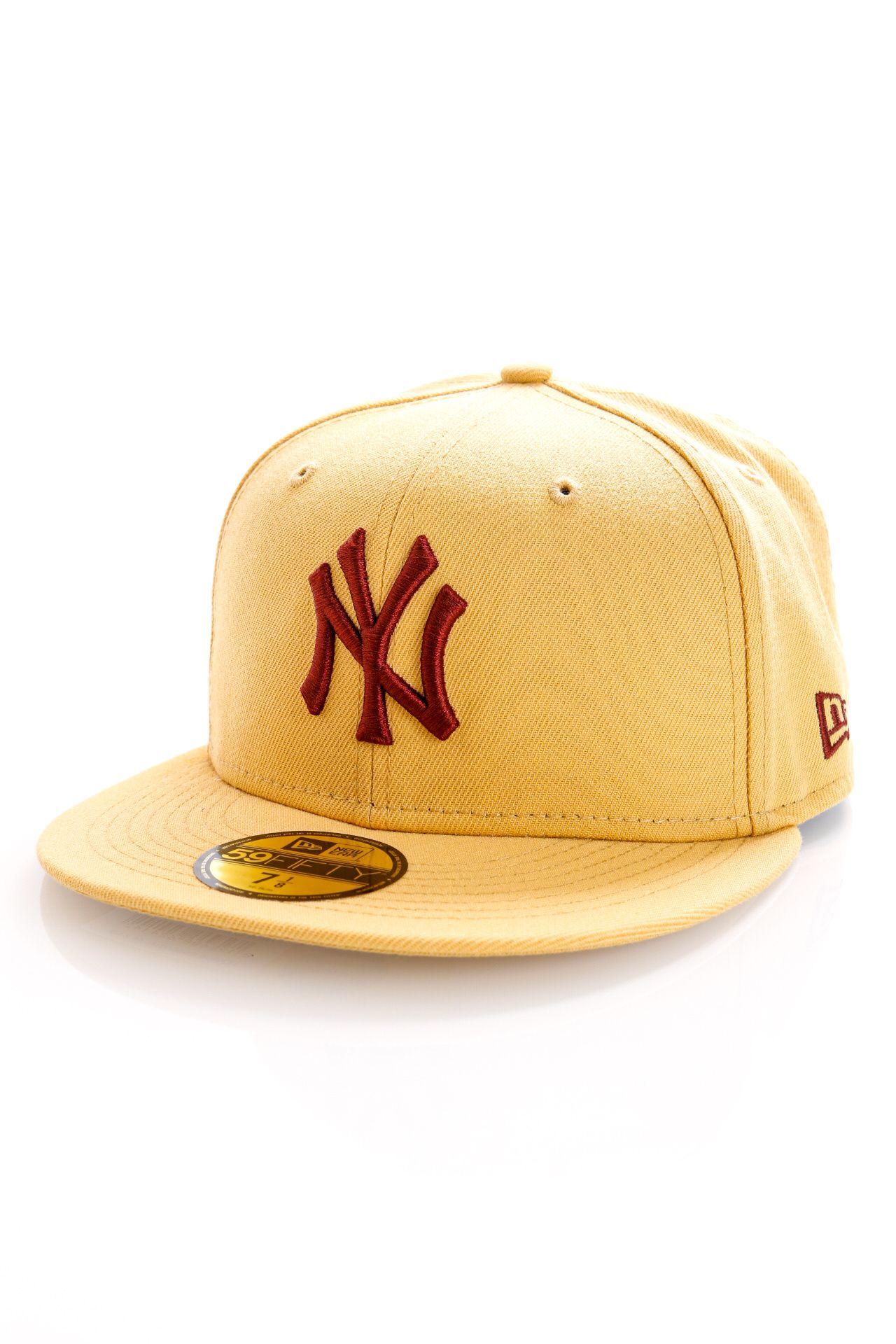 Afbeelding van New Era New York Yankees Fitted Cap LEAGUE ESSENTIAL 59FIFTY NEYYAN Cream/Red NE60141438