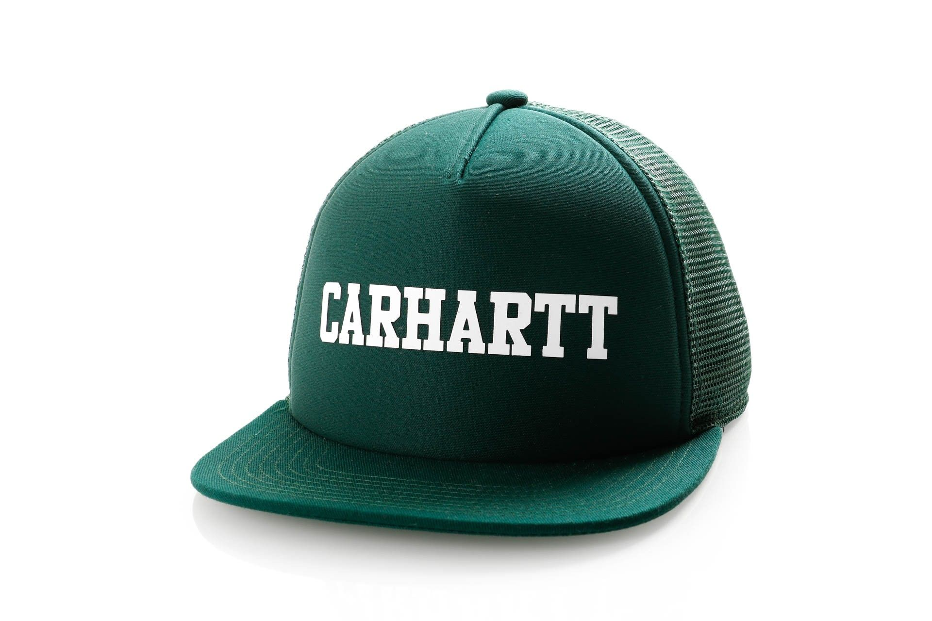 Afbeelding van Carhartt Wip College Trucker Cap I025652 Trucker Cap Dark Fir / White