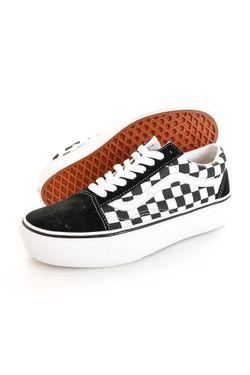 Afbeelding van Vans Sneakers UA Old Skool Platform (CHECKERBOARD) Black/True White VN0A3B3UHRK1