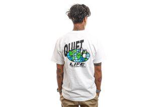 Foto van The Quiet Life T-Shirt Globe T White 21FAD1-1142