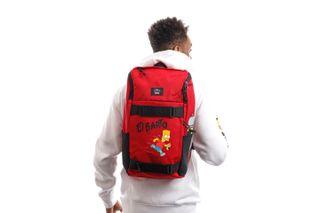 Foto van Vans x Simpsons Rugtas Mn Obstacle Skatepack El Barto Deep Red/True W VN0A3I6917A1