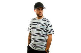 Foto van Woodbird T-shirt Olei Stripe Tee Mint-Navy-White 2026-410