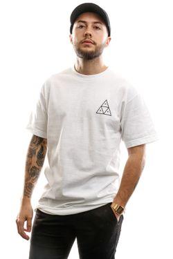 Afbeelding van Huf Essentials Tt S/S Tee Ts00509-White T Shirt White