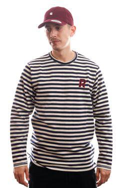 Afbeelding van Reell Jeans Longsleeve Striped Longsleeve Navy/White 1303-003