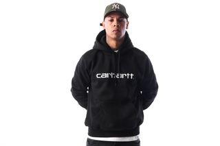 Foto van Carhartt Wip Hooded Carhartt Sweatshirt I025479 Hooded Black / White