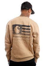 Carhartt Crewneck Fade State Sweat Dusty H Brown / Black I029528