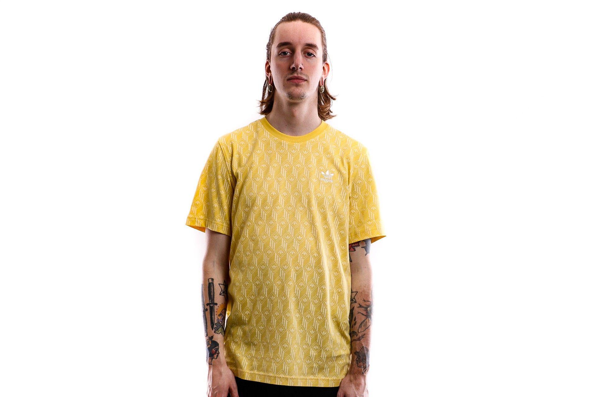 Afbeelding van Adidas T-shirt Mono Aop Tee Core Yellow S10/Easy Yellow FM3425