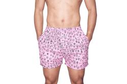 Afbeelding van Pockies Boxershort Inferno Ragazzi Pink - Black