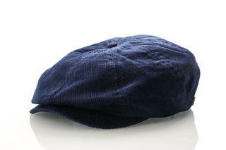 Foto van Brixton Brood Cord Snap Cap 10423 Flapcap Patriot Blue