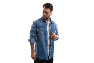 Foto van Carhartt Overhemd Salinac Shirt Jac Blue I027545