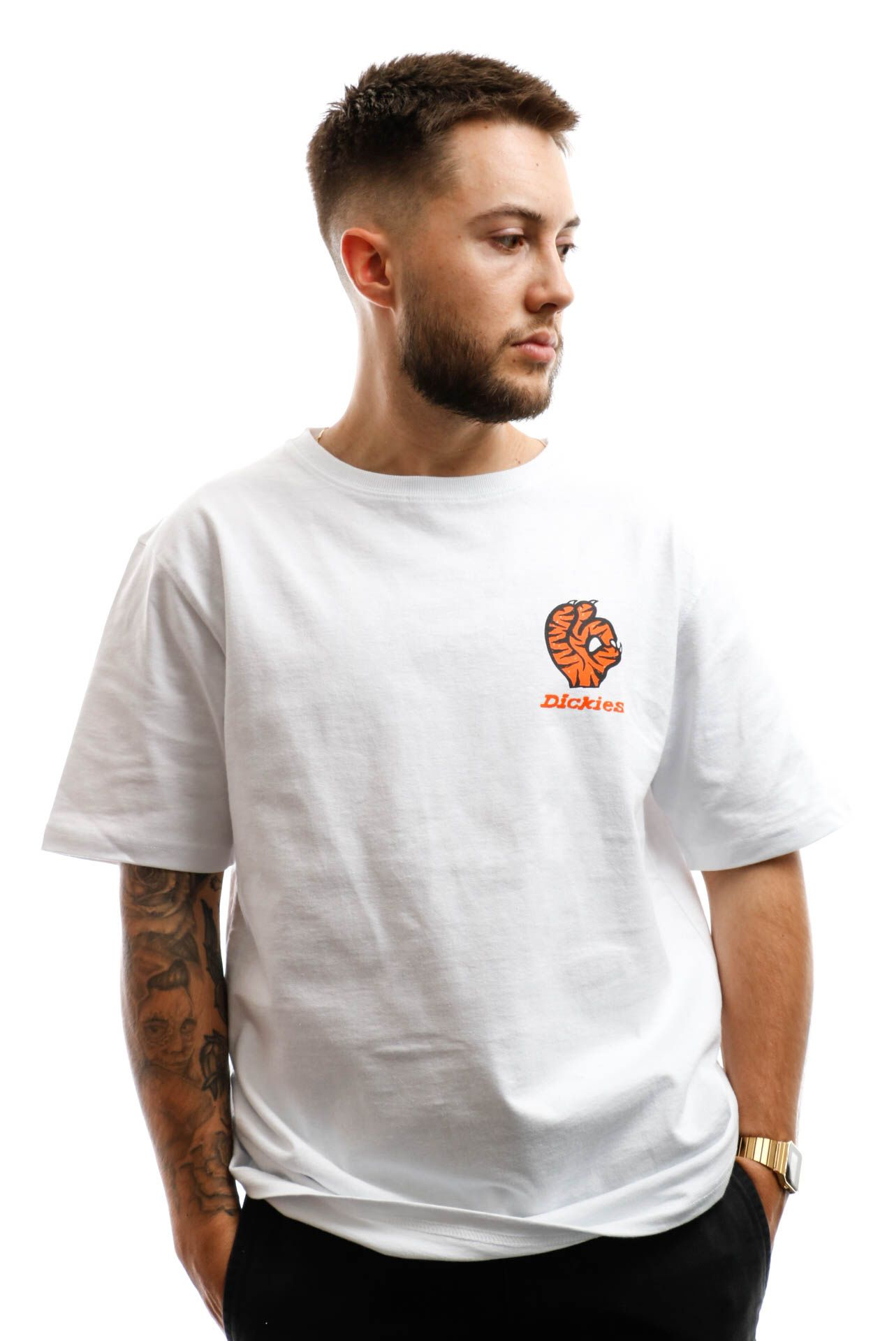 Afbeelding van Dickies T-shirt Schriever Tiger T-Sirt White DK0A4X6TWHX1
