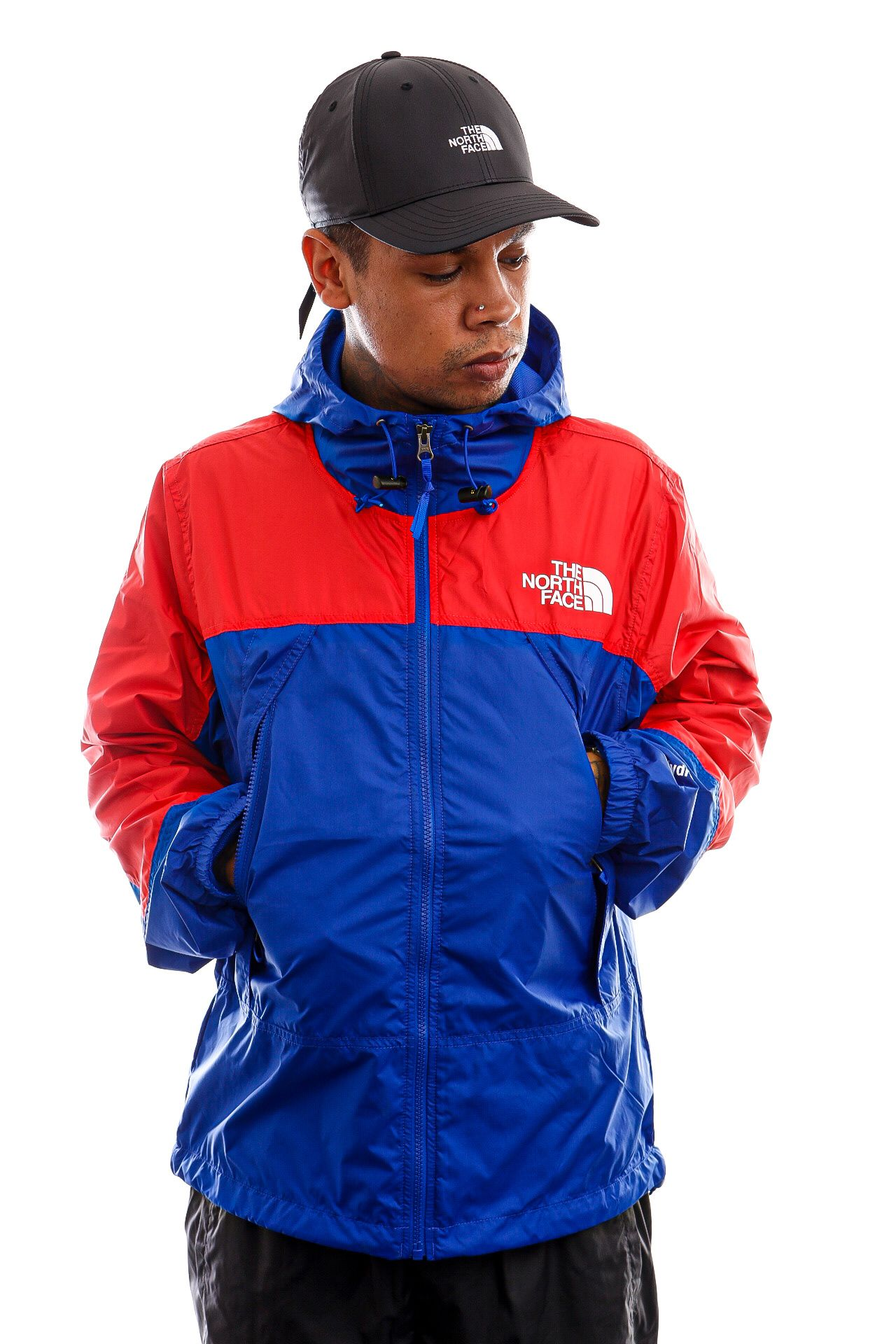 Afbeelding van The North Face Jas Mens Hydrenaline Wind Jacket TNF Blue/Horizon Red NF0A53C1Z451