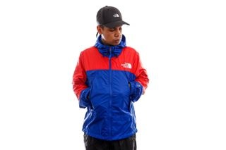 Foto van The North Face Jas Mens Hydrenaline Wind Jacket TNF Blue/Horizon Red NF0A53C1Z451