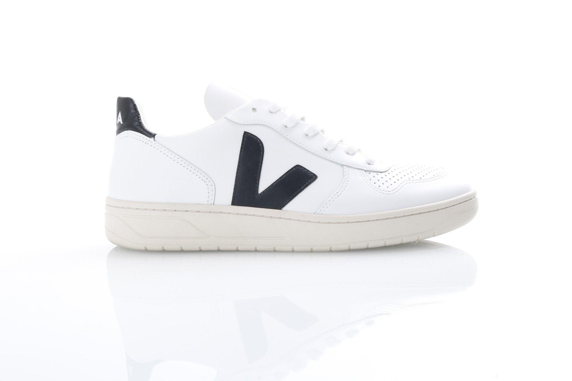 Afbeelding van Veja Vx020005 Sneakers V-10 Leather Extra White/Black