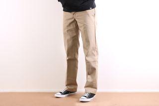 Foto van Dickies Workwear Wp873-Kh Chino Slim Straight Bruin