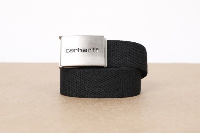 Afbeelding van Carhartt Wip I019176-8900 Belt Clip Chrome Zwart